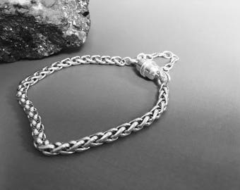 THE FINEST SILVER- on the market - 935 Argentium® Silver 4mm Wheat Chain, choose clasp -choose your length...Bracelet or Necklace