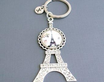Paris Eiffel Tower keychain gift for her-Personalized keychains gift for him-French keychain-Paris keychain souvenirs-Paris party favors