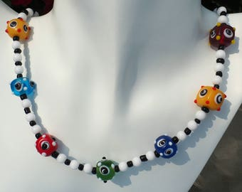 Funky, Bumpy Bead Necklace and Earring Set