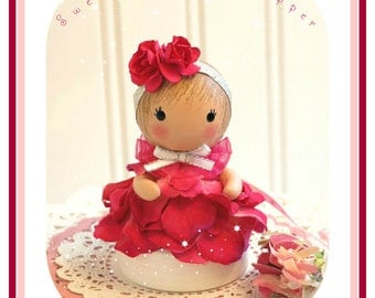 Shabby Rose Baby Shower Cake Topper Girl, 1st Birthday Girl, Baby Shower Gift Girl, Flower Cake Topper, First Birthday, Baby 1st Birthday