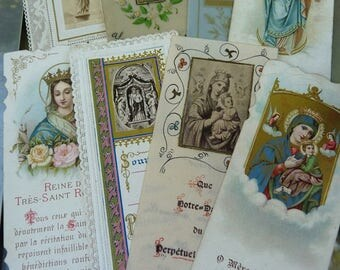 Antique Holy Cards, Ex Votos for the Passionate, offered by RusticGypsyCreations