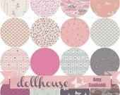 COMPLETE Fat quarter bundle from the Dollhouse fabric collection by Amy Sinibaldi for Art Gallery fabrics -  16 FQ bundle