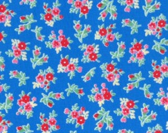 Small Floral in blue from the Flower Sugar Berry Fall 2017 fabric collection by Lecien of Japan - 31515L-77