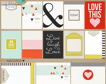 Melon Sorbet (Journal Card) - Cards for Project Life Spring, Summer, Love INSTANT DOWNLOAD