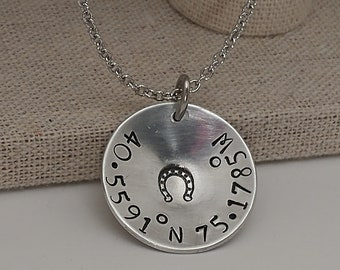 Coordinates necklace or keychain