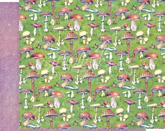 Graphic 45 Fairie Dust Tiny Toadstools Sheet, set of 2 sheets 12x12 double sided