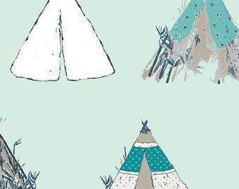 Art Gallery Pandalicious - Gansu Village Mintglow Cotton Fabric (Quilting/Dressmaking)