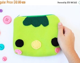 ON SALE - Kappa Zipper Pouch - Pencil Pouch, Pencil Case, School Supplies, Make Up Bag, 3DS Case, Phone Case, Coin Purse
