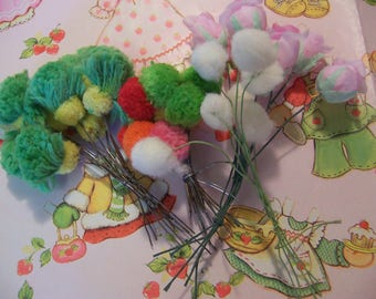 pom pom craft bouquets