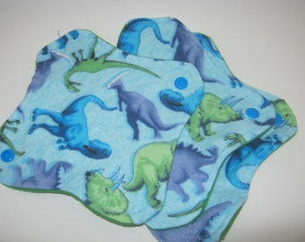 3 Cloth Panty Liners-Dinosaurs