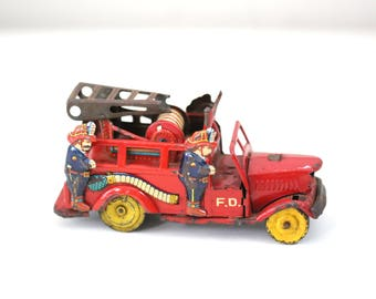 Antique toy firetruck from japan vintage toys