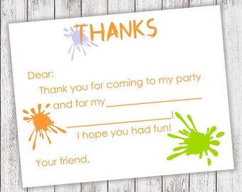 PRINTABLE Artist Thank Yous - #DIY #Printable #Digital #File (instant download)