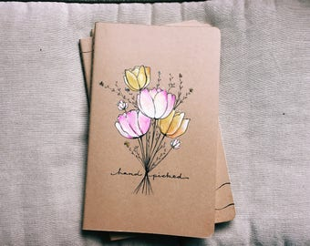 Hand Painted Moleskine Journal