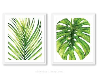 Merveilleux Palm Leaf Print   Monstera Leaf Print   Tropical Leaf Wall Art   Monstera  Wall Art