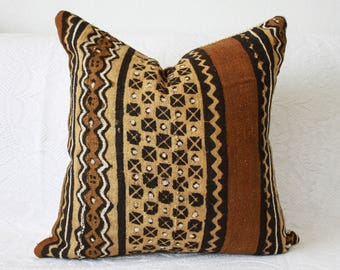 Mudcloth Pillow Cover  - Boho Pillow Cover - 18x18, 20x20