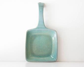 Vintage Mid Century Glidden Turquoise Pottery Dish