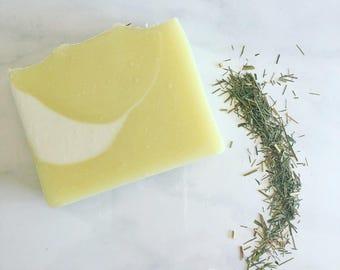 GREEN TEA LEMONGRASS Bar Soap.  Soap Bar.