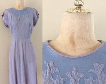 "20% OFF 1960's Lavender Lace w/ Illusion Bust Wiggle Dress Vintage Dress Size Medium 28"" Waist by Maeberry Vintage"