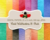 80% OFF SALE mother's day - digital paper, commercial, 16 Watercolor, texture, digital papers, background, Pink splashes, clipart, overlays
