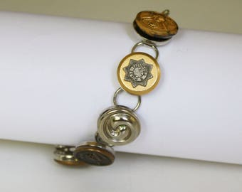Handmade Bracelet with Vintage Buttons