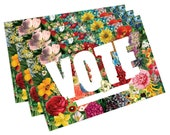 State Flowers Political Postcards: Set of 60 vote postcards, perfect for writing to your reps or get out the vote