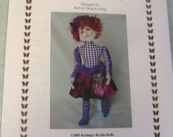 MRS GILLEY WILLEY~Barb Keeling~Rare 2005 cloth art doll pattern
