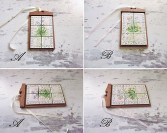 12th scale - Lama tile wooden tray