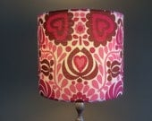 Bold heart and flower  HIPPY Lampshades in ' Orcades' By Grace Sullivan Vintage Fabric