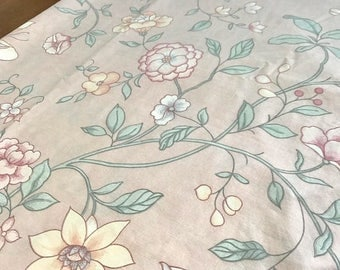 SALE Vintage Wamsutta queen flat sheet remix bed sheets bedding retro linens crafts fabric made in USA