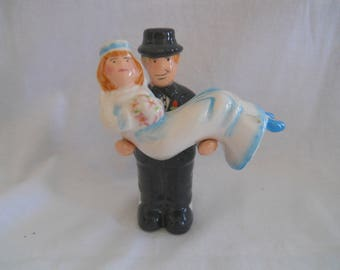 Bride and Groom Salt and Pepper Shakers - vintage, collectible, wedding