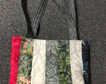 Quilted Tote Bag Reusable batiks