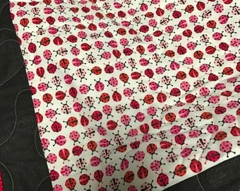 Small quilt or playmat ladybug fabric