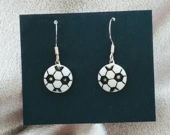 soccer earrings sports earrings brockus creations