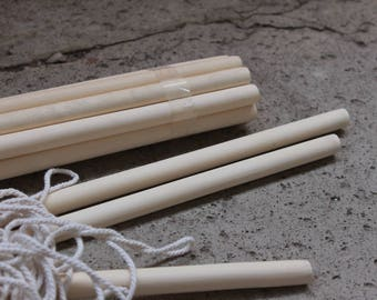 Wooden dowel for Macrame projects, natural, organic