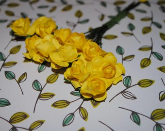 24- Yellow-- Beautiful paper roses
