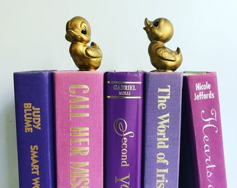 Vintage Purple Books Instant Library Collection Decorative Books Photography Props