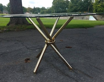 Midcentury hollywood regency brass table base