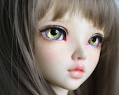BJD eyes Doll eyes Hand made available in 12141618202224mm Sparkling Pansy made to order