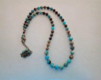 Blue Impression Jasper Necklace