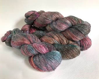 Persuasion Silk Linen Lace Yarn. Seawashed Stormy Morning