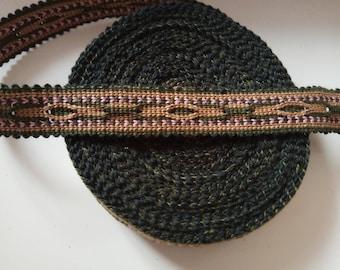 Uzbek handwoven cotton trim Jiyak. Tribal ethnic, boho, hippy trim. NTR003