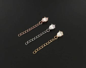 Extender chain, rose gold, silver, gold, extender chain only