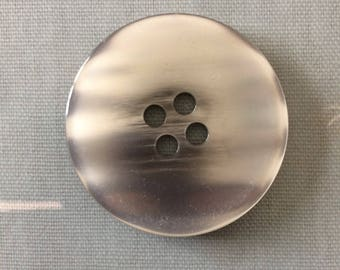 Giant large 50mm silver button x 3