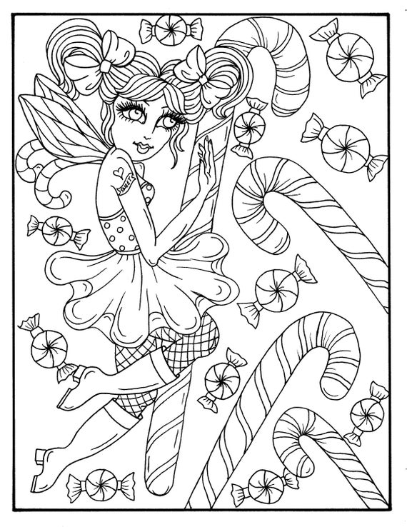 Digital Fairy Merry Christmas Coloring Book Download
