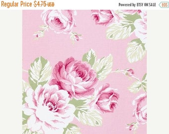 Fall Sale Full Bloom Rose in Pink by Tanya Whelan  - Half Yard