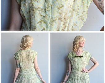 1950s Dress // Jean Lang Willow Dress // vintage 50s dress
