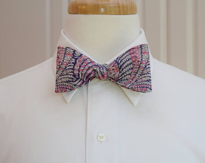 Men's Bow Tie, Liberty of London, pink/purple paisley Oscar print bow tie, groomsmen/groom bow tie gift, wedding bow tie, tuxedo accessory,