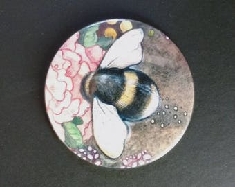 Bumble Bee Pocket Mirror