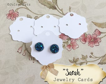 40•2X2•SARAH•EARRING Cards•Jewelry Cards•Earring Display•Post Earring Card•Hoop Earring Card•Lever Earring Card