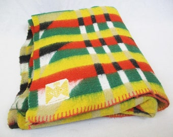 Vintage 60's Tetem Funky Aztec Large Blanket Mid-Century Retro Scandi Home MCM